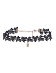 CROWN BLACK LACE CHOKER
