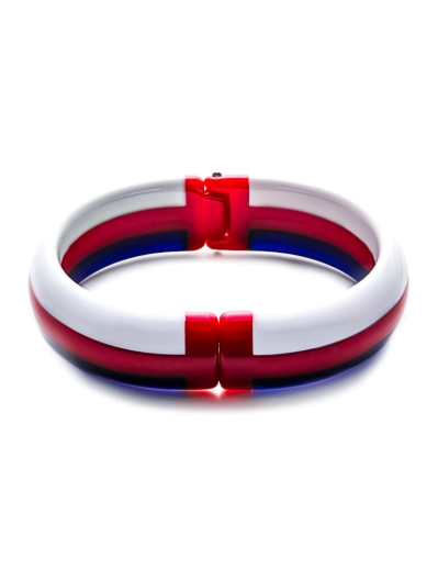 BLUE RED WHITE STRIPES BANGLE