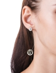 JULIETTE RHODIUM SPHERES EARRINGS