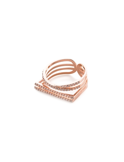 MULTI BAND ROSEGOLD RING