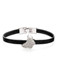 BUTTERFLY RHODIUM BLACK BRACELET