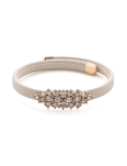 CLEAR CZ GOLD DESIGN CREAM CUFF