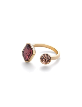 COLORED STONES GOLD RING