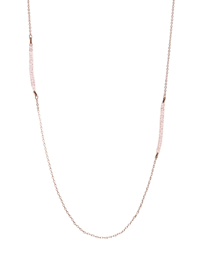 INTRICATE ROSEGOLD MESH NECKLACE