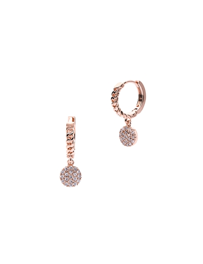 HOOP AND CHARM ROSEGOLD EARRINGS