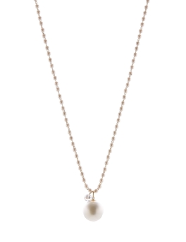 PEARLS WITH CUBIC STONE NECKLACE