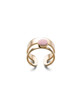 PINK LEATHER ADJUSTABLE RING