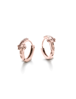 LUXE CZ HOOP ROSEGOLD EARRINGS