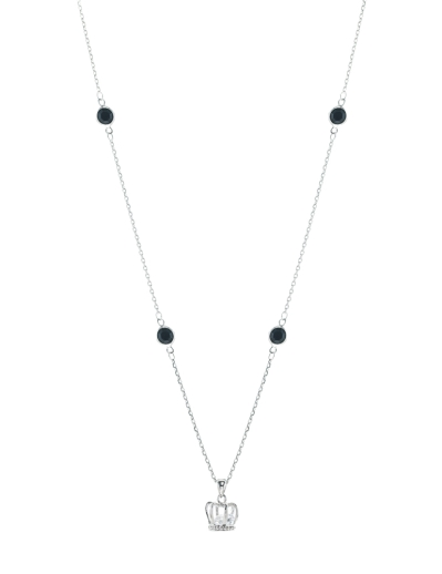 CROWN AND NOIR CHARMS NECKLACE