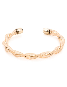 FINE GOLD MESH TWIST BANGLE
