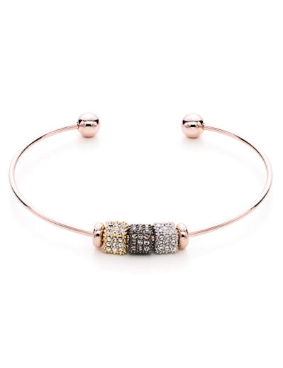 CUBES ROSEGOLD BANGLE CUFF