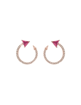 RUBY CURVED ARROW EARRINGS