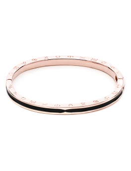 BLACK WAVE ROSEGOLD BANGLE