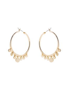 GOLD HOOPS AND CHARMS EARRINGS