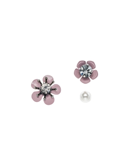 MIX N MATCH FLOWERS PEARL EARRINGS