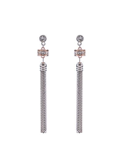 SWAROVSKI CRYSTALS TASSEL EARRINGS
