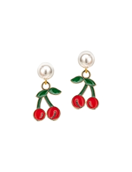 CHERRIES AND PEARLS EARRINGS