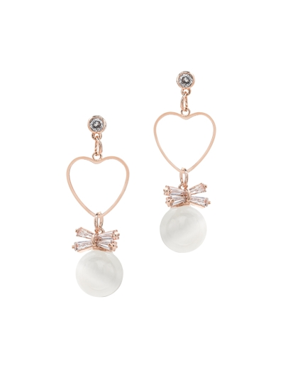 TRANSLUCENT BEADS ROSEGOLD EARRINGS