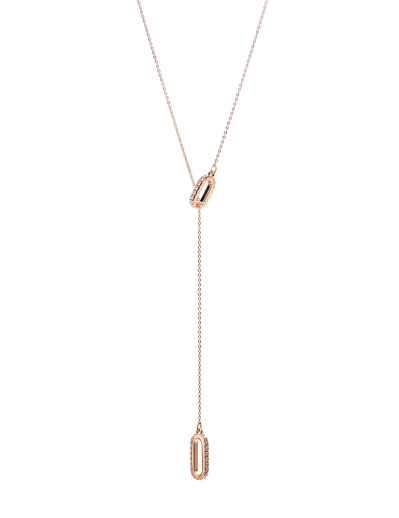 CRYSTAL DROP ROSEGOLD NECKLACE