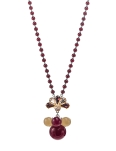 MAROON BEADS CUBIC STONES NECKLACE