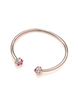 ROSE PINK SWAROVSKI CRYSTALS RG BANGLE