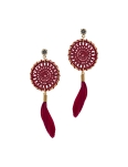 MAROON DREAMCATCHER EARRINGS