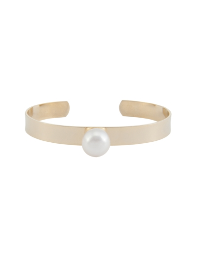 MODERN PEARL CUFF BANGLE