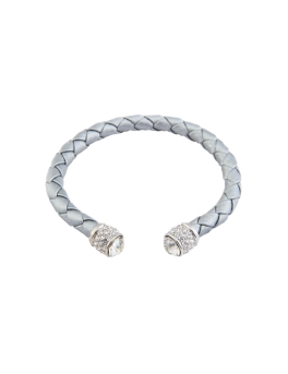 TIMELESS SILVER WEAVED BANGLE