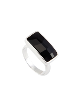 OBLONG JET RING