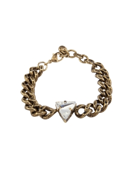 CRYSTAL ANTIQUE GOLD BRACELET