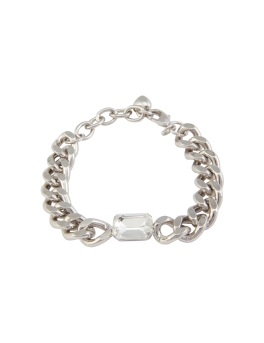 CLEAR CRYSTAL CHAIN BRACELET