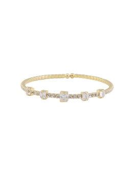 STACKABLE CUBIC GOLD BANGLE