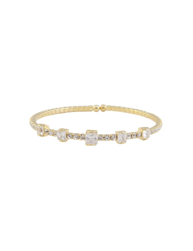 STACKABLE GOLD CUBIC BRACELET