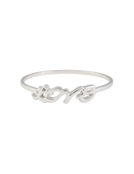 RHODIUM LOVE METAL BANGLE