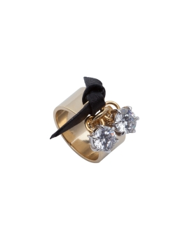 RIBBON CZ GOLD RING