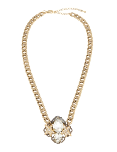 TWIN STARS GOLD NECKLACE