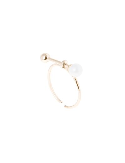 PEARL BATON GOLD RING