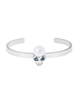 MONTANA SKULL RHODIUM BANGLE