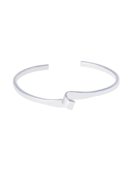 WAVE RHODIUM BANGLE