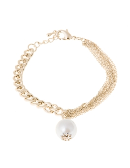 PEARL MULTI CHAIN GOLD BRACELET