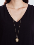 OPEN MESH GOLD NECKLACE