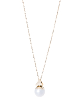 PYRAMID PEARL GOLD NECKLACE