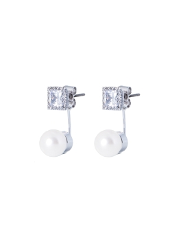 AUDREY CUBIC RHODIUM EARRINGS