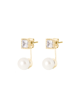 AUDREY CUBIC GOLD EARRINGS