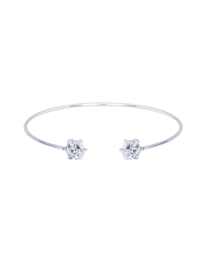 CUBIC SKINNY RHODIUM BANGLE