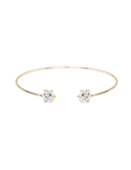 CUBIC SKINNY GOLD BANGLE