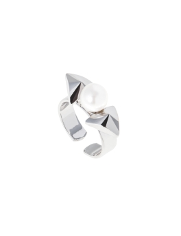 PRETTY BOW RHODIUM RING