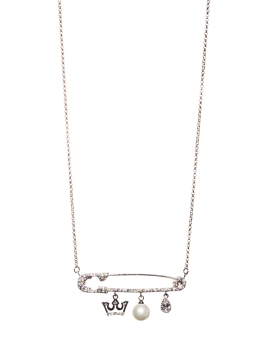 CUBIC ZIRCONIA PIN NECKLACE