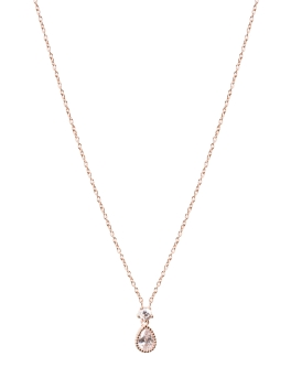CUBIC ZIRCONIA ROSEGOLD NECKLACE