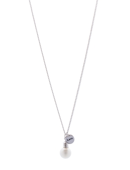 LOVE PEARL RHODIUM NECKLACE